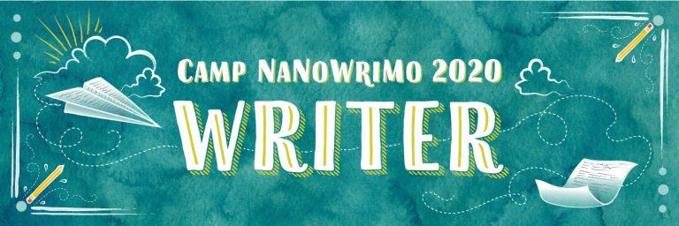 Bandeau du participant au Camp Nanowrimo 2020